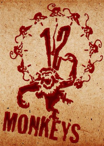 1990's Movie - 12 MONKEYS - LOGO STAINED PAPER canvas print - self adhesive poster - photo print